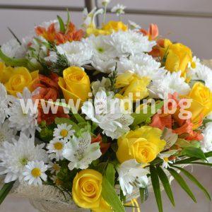 Букет Розы и хризантемы №2