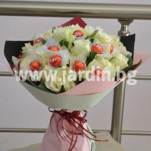 Букет Рози и бонбони №1